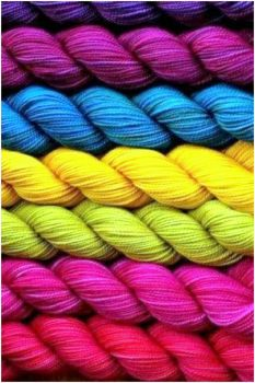 Rainbow Skeins of Yarn