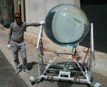 An energy concentrator. It collects sunlight and moonlight!