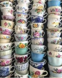 A collection of vintage cups