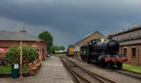 Didcot just before the rain came down