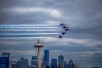 Blue Angles and Space Needle Aug. 2, 2019