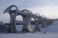 Falkirk Wheel in the snow