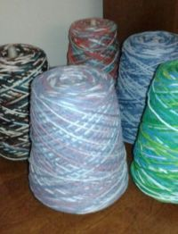 Cones of Crochet Cotton