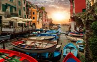 Wintering the boats in Riomaggiore, the Cinque Terre, Italy