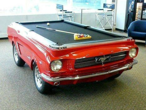 Pony Car Pool Table - photog unknown