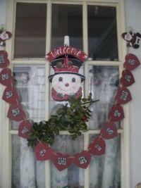 Holly and Santa on Door