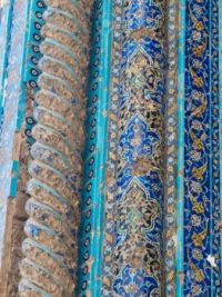 Floral-tiles-decoration-in-Blue-mosque-in-Tabriz-Iran