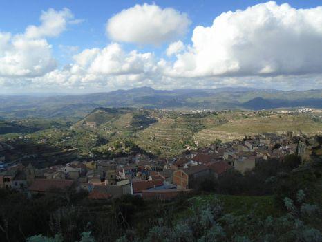 Atop Assoro Mountain, Sicly