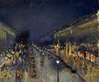 Camille_Pissarro,_The_Boulevard_Montmartre_at_Night,_1897