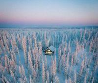 A cozy winter cabin in Finland