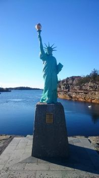 Visnes Statue of Liberty in Karmoy, Norway
