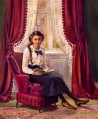 Reading woman by the window