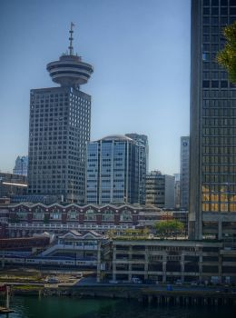 View of Vancouver's Gastown area