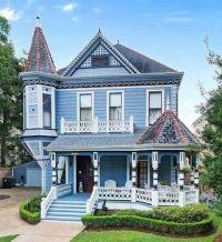 Blue Victorian Home in Louisiana