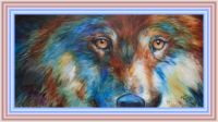 Wolf Abstract by Marcia Baldwin