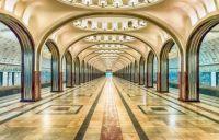 Mayakovskaya, Moscow metro, Russia