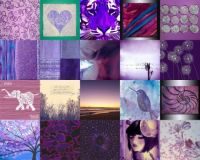 mostly purple