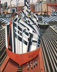 Dazzle-ships in Dry Dock Liverpool