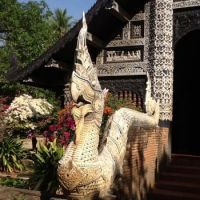 Burmese style temple in Chiang Mai