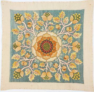 Embroidered Cushion cover, ca. 1890, Morris & Co., May Morris, designer