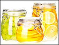 Canned Whole Green Gooseberries, Sliced Lemons, and Oranges