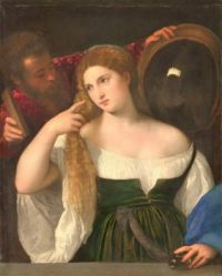 Titian's Woman with a Mirror, 1512