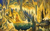 Buddha the Winner by  Nicholas Roerich, 1925