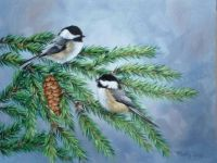 Pair of Chickadees