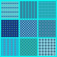 Patterns Made From My Aquamarine Birthstone Kaleidos!! ~ H
