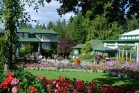 The Piazza near the entrance of Butchart Gardens.