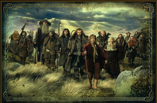 The Dwarf team and Bilbo - LOTR