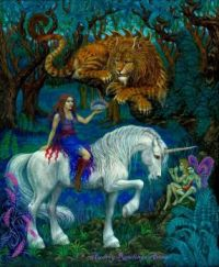Queen Unicorn and Lion Dragon