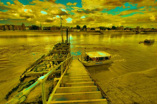 HDR of River Great Ouse, West Lynn -  7th Aug 2012