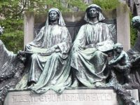 The statue of the Van Eyck brothers