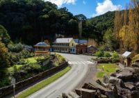 Historic mining town of Walhalla, Vic, Aus,