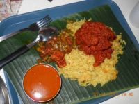 Indian Fare - Bryani Rice with spicy Sambal Chicken & Sambal Goreng