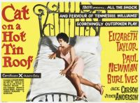 CAT ON A HOT TIN ROOF - 1958 POSTER  ELIZABETH TAYLOR, PAUL NEWMAN, BURL IVES