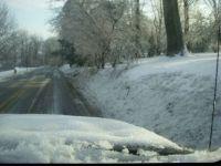 Snowy Drive in December