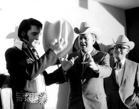 Elvis Presley in Hou.ston before his shows at the Rodeo