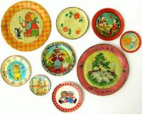 THEME ~ Toys & Games ... Tin Lithograph Dishes