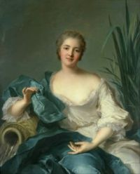 Jean-Marc Nattier English: Portrait of Madame Marie-Henriette Berthelot de Pléneuf 1739