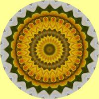 kaleidoscope 347 yellow mandala small