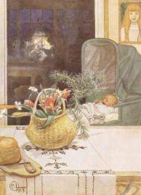 "Carl Larsson, ""Gunlög without her Mama"", 1913"