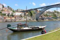Original barge at Porto, Portugal