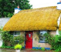 Thatched Roof Cottage in Ireland...
