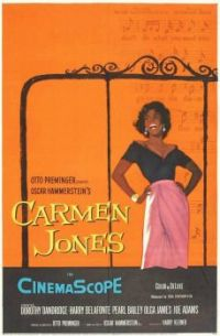 CARMEN JONES - 1954 MOVIE POSTER DOROTHY DANDRIDGE, HARRY BELAFONTE