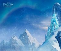 ice castle from the movie Frozen