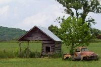 Truck & Shed - Dry Brush