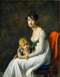 Madame Philippe Panon Desbassayns de Richemont and Her Son Eugene
