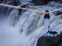 LIGHTHOUSE BY WATERFALL (FAKE)